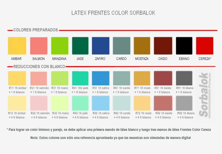 CARTA FRENTES COLOR PREPARADOS Y REDUCCIONES